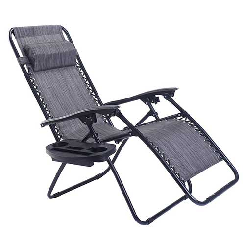 Best Zero Gravity Chairs for Back Pain 4. Goplus Folding Zero Gravity Reclining Lounge Chairs