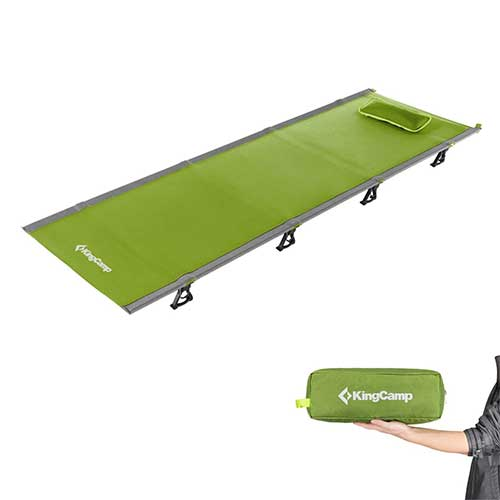 Best Lightweight Camping Cots 5. KingCamp Ultralight Compact Folding Camping Tent Cot Bed