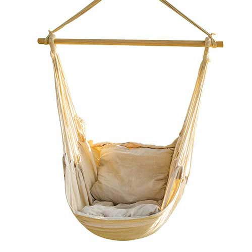 Most Comfortable Hanging Chairs 8. CCTRO Hanging Rope Hammock Chair Swing Seat