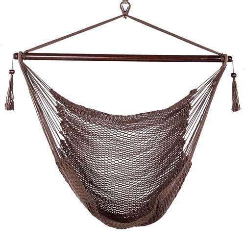 Most Comfortable Hanging Chairs 7. Blissun Hammock Chair, Hanging Chair, Swing Chair