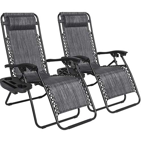 Best Zero Gravity Chairs for Back Pain 3. Best Choice Products Set of 2 Adjustable Zero Gravity Lounge Chair