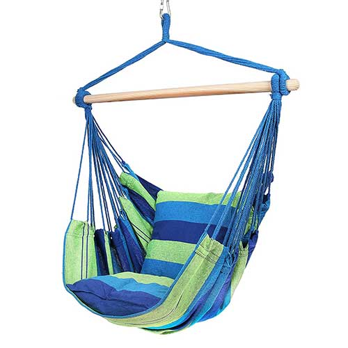 Most Comfortable Hanging Chairs 5. Blissun Hanging Hammock Chair, Hanging Swing Chair