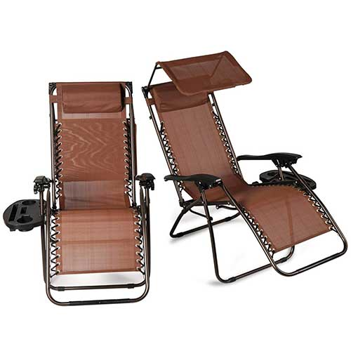 Best Zero Gravity Chairs for Back Pain 9. Belleze 2 Pack Zero Gravity Chairs