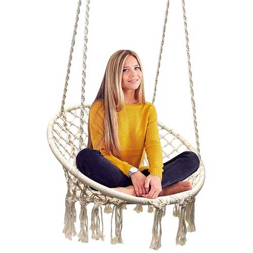 Most Comfortable Hanging Chairs 1. Sorbus Hammock Chair Macrame Swing