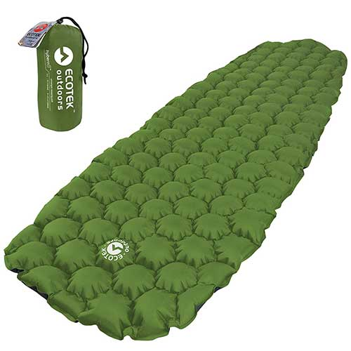 Best Camping Cot Mattress 5. ECOTEK Outdoors Hybern8 Ultralight Inflatable Sleeping Pad