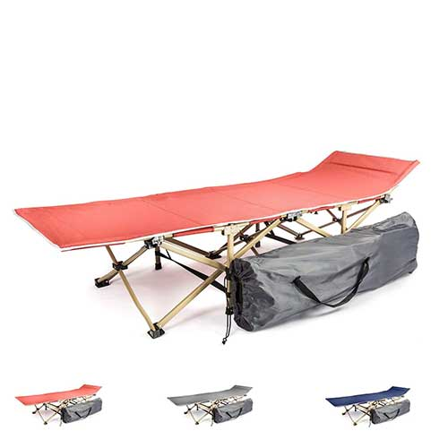 Best Lightweight Camping Cots 6. KyRush It Camping cot portable folding bed for adults and kids