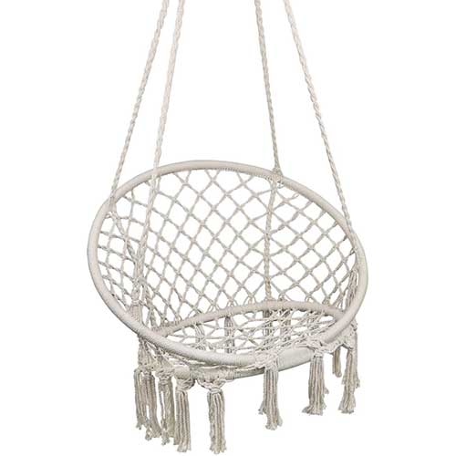 Most Comfortable Hanging Chairs 6. Hammock Chair Macrame Swing, Hanging Chair
