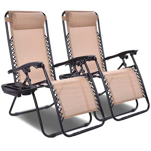 Best Zero Gravity Chairs for Back Pain 10. Giantex 2 PCS Zero Gravity Chair