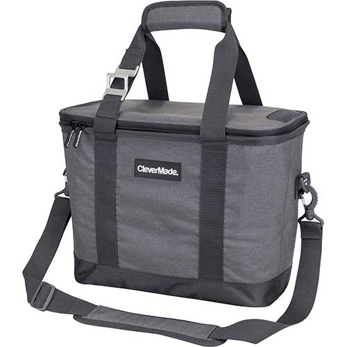 Best Coolers Under 100 8. CleverMade SnapBasket 30 Can Soft-Sided Collapsible Cooler: 20 Liter Insulated Tote Bag