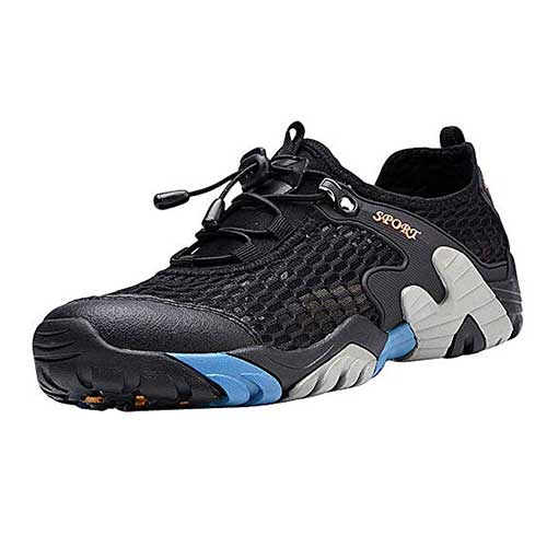Best Water Shoes for Hiking 8. Padcod Hiking Shoes, Men's Boating Water Trail Shoes Sneakers for Climbing Hiking Outdoor
