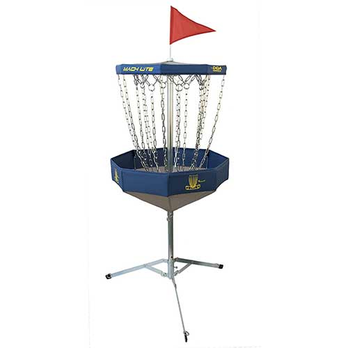 Best Disc Golf Practice Baskets 5. DGA Mach Lite Portable Disc Golf Practice Basket