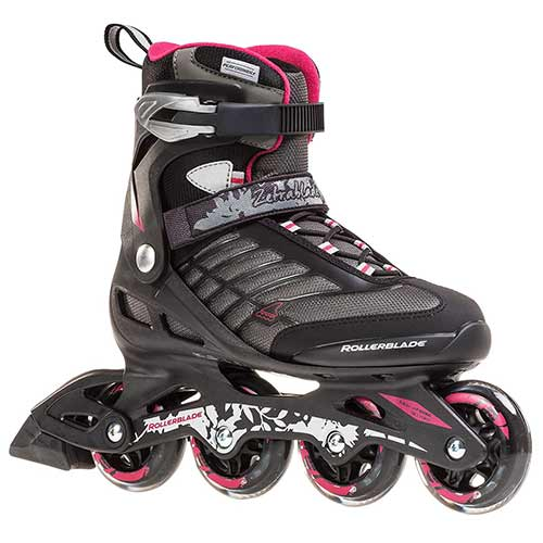 Best Rollerblades for Women 3. Rollerblade Zetrablade Women's Adult Fitness Inline Skate, Black and Cherry, Performance Inline Skates