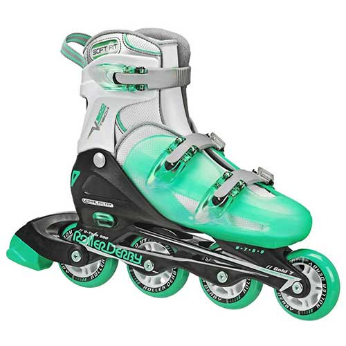 Best Rollerblades for Women 2. Roller Derby Women's V-Tech 500 Button Adjustable Inline Skate
