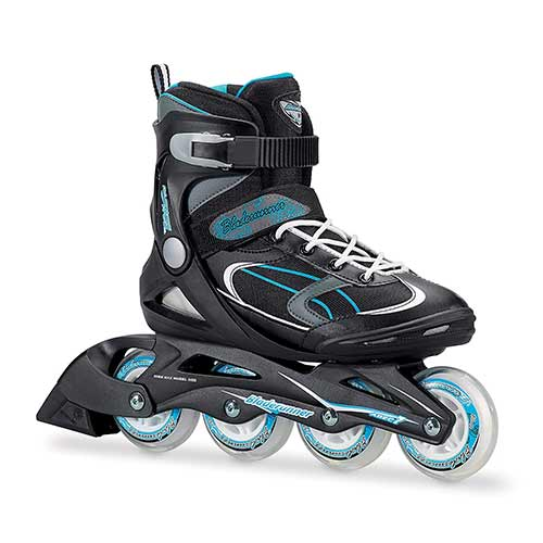 Best Rollerblades for Women 1. Bladerunner by Rollerblade Advantage Pro XT Women's Adult Fitness Inline Skate, Black and Light Blue, Inline Skates
