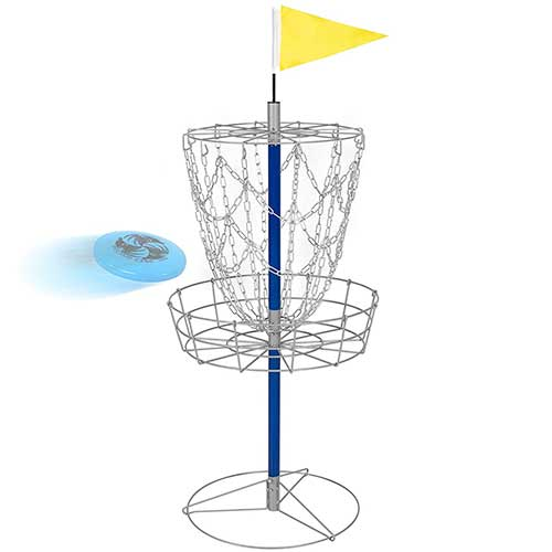 Best Disc Golf Practice Baskets 6. Best Choice Products Portable Disc Golf Basket Double Chains Steel Frisbee Hole