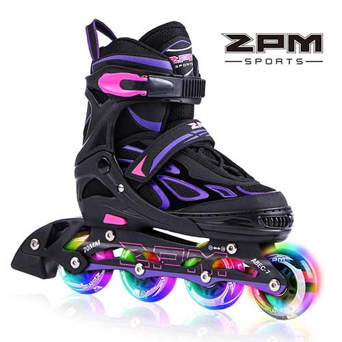 Best Rollerblades for Women 4. 2PM SPORTS Vinal Girls Adjustable Inline Skates