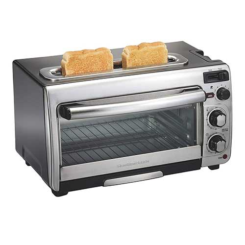 Best Toaster Ovens Under $100 4. Hamilton Beach 2-in-1 Countertop Oven and 2-Slice Toaster