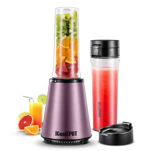 Best Personal Blenders for Frozen Fruit 5. ICOOKPOT Nutrition Blender Personal Blender