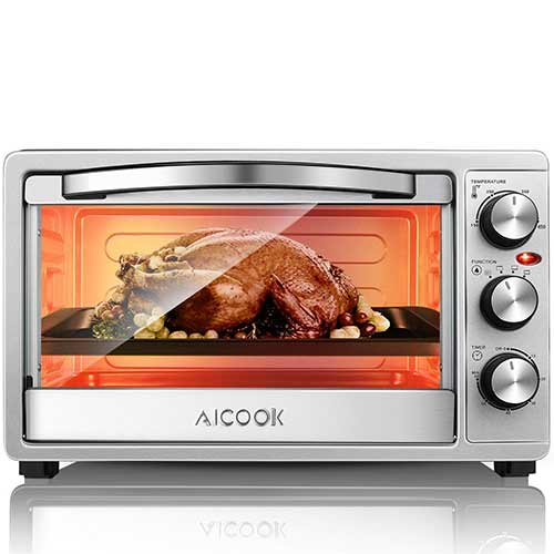 Best Toaster Ovens Under $100 9. Toaster Oven, 6 Slices of Bread Large Countertop Oven SpeedBaking by AICOOK