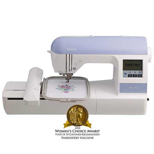 "Best Embroidery Machines for Home Business 2. Brother Embroidery Machine, PE770, 5"" x 7"" Embroidery Machine"