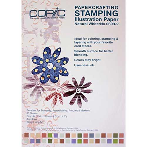 Best Papers for Copic Markers 7. Copic Markers Stamping Illustration Paper, A4