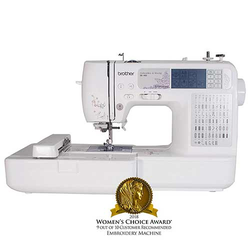 Best Embroidery Machines for Home Business 1. Brother SE400 Combination Computerized Sewing and 4x4 Embroidery Machine