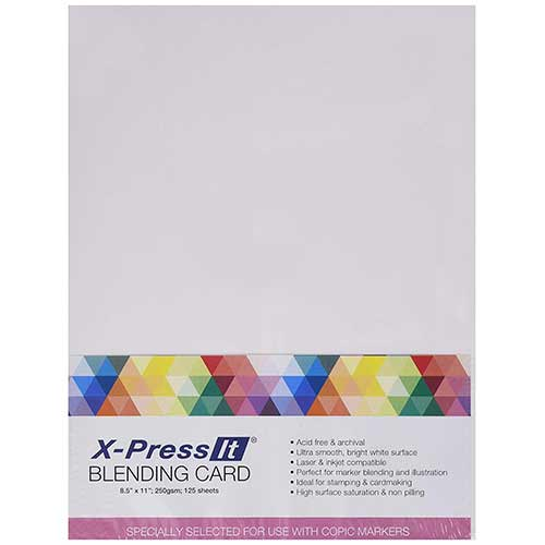 Best Papers for Copic Markers 1. Copic Marker XPBC 8-1/2-Inch by 11-Inch Express Blending Card