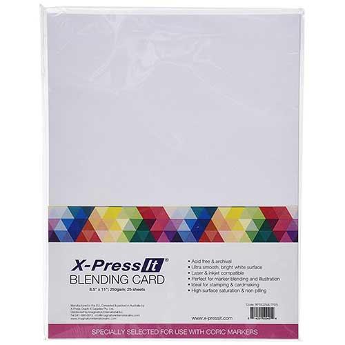 Best Papers for Copic Markers 2. Copic Markers 8-1/2 by 11-Inch Blending Card by X-Press It