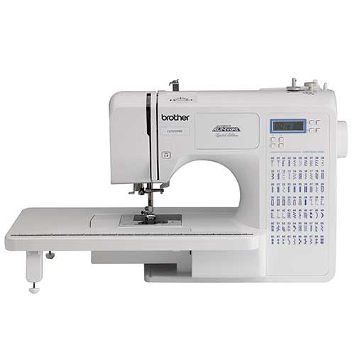 Best Sewing Machines for Leather 5. Brother Project Runway CE7070PRW 70-Stitch Computerized Sewing Machine