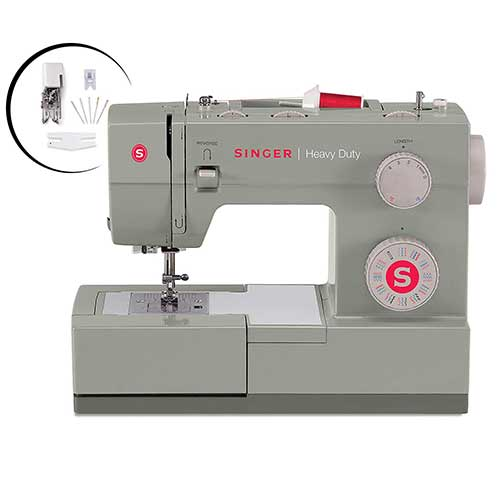 Best Sewing Machines for Leather 3. SINGER | Heavy Duty 4452 Sewing Machine