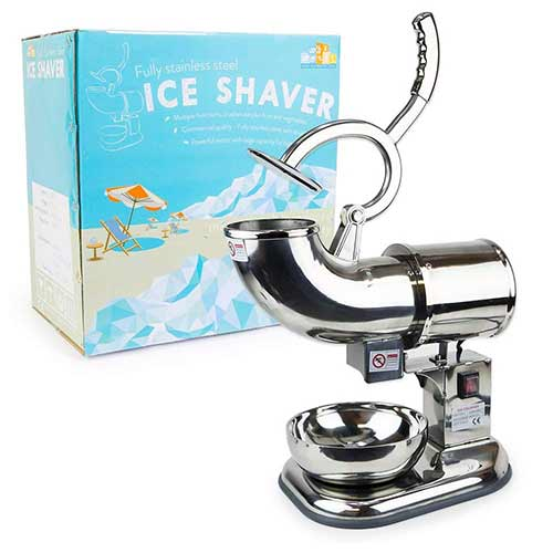 Best Commercial Shaved Ice Machines 6. WYZworks Stainless Steel Commercial Heavy Duty Ice Shaver