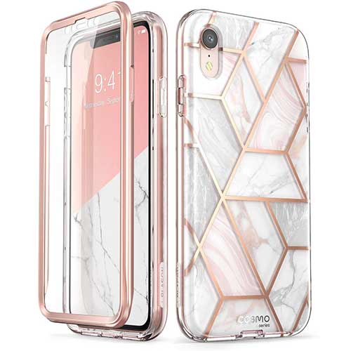 Best iPhone XR Cases 6. iPhone XR Case, [Built-in Screen Protector] i-Blason [Cosmo] Full-Body Glitter Bumper Case
