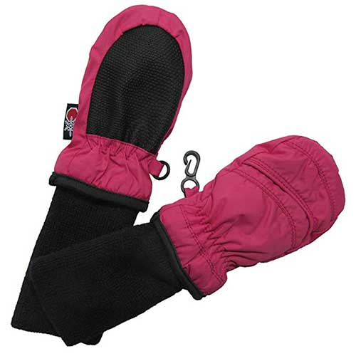 Best Winter Gloves for Toddlers Girl 6. SnowStoppers Kids Waterproof Stay On Winter Nylon Mitten