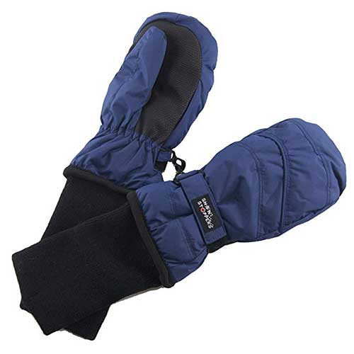Best Winter Gloves for Toddlers Boy 10. SnowStoppers Kids Waterproof Stay On Winter Nylon Mitten
