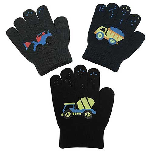 Best Winter Gloves for Toddlers Boy 5. N'Ice Caps Boys Magic Stretch Gloves 3 Pair Pack Assortment