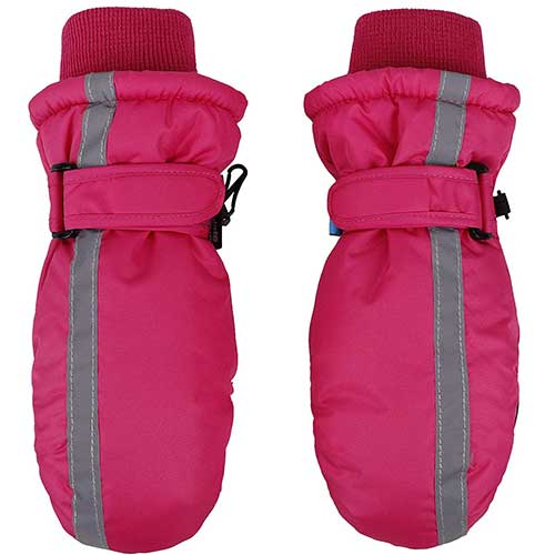 Best Winter Gloves for Toddlers Girl 8. SimpliKids Children's Snow Sports Thinsulate Lined Waterproof Winter Mittens