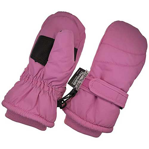 NIce Caps Little Kids Cute Fleece Animal Face Thinsulate Waterproof Winter Mittens
