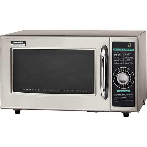 Best Commercial Microwaves for Home Use 7. Sharp R-21LCF Medium-Duty Commercial Microwave (Dial Timer, 1000-Watts, 120-Volts)