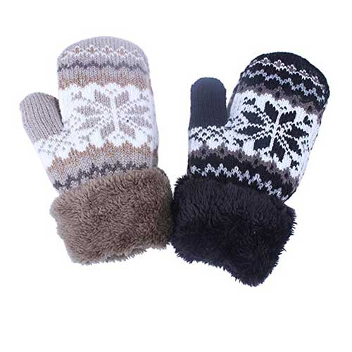 Best Winter Gloves for Toddlers Boy 2. KimmyKu Toddler Baby Boy Girl Warm Winter Mittens Gloves With Fleece Lining Snowflake Design ¡¬