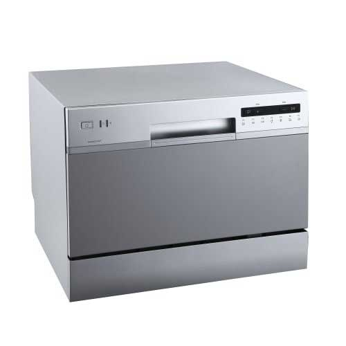Best Countertop Dishwashers 2. EdgeStar DWP62SV 6 Place Setting Energy Star Rated Portable Countertop Dishwasher