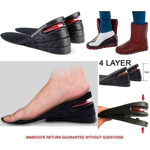 10. Height Increase Heel Insoles 4 Layer Adjustable air Cushion Lift Pads Soles