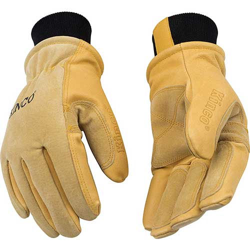 Best Work Gloves for Winter 2. KINCO 901 Men's Pigskin Leather Ski Glove
