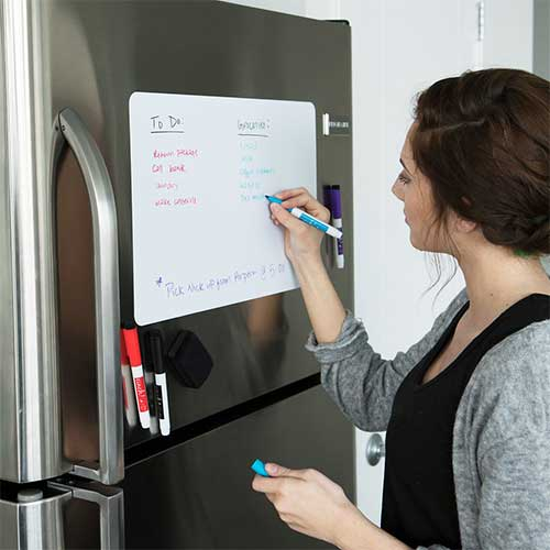 4. Magnetic Dry Erase Whiteboard Sheet for Kitchen Fridge