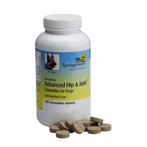 Best Joint Supplements for Dogs with Hip Dysplasia 1. Springtime Advanced Hip & Joint Chewables for Dogs