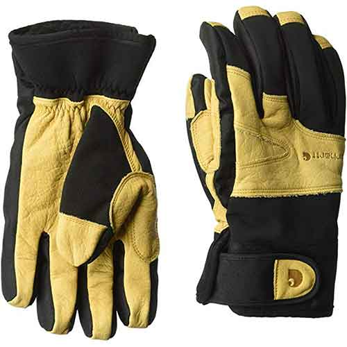 Best Work Gloves for Winter 7. Carhartt Men's Winter Dex Cow Grain Leather Trim Glove