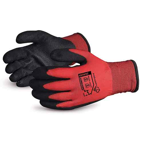 Best Work Gloves for Winter 9. Superior Winter Work Gloves - Fleece-Lined with Black Tight Grip Palms (Cold Temperatures) SNTAPVC