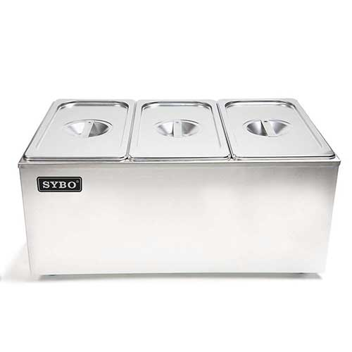 8. SYBO ZCK165A-3 Commercial Grade Stainless Steel Bain Marie Buffet Food Warmer Steam Table