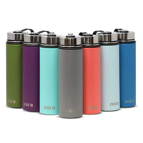 9. MIRA Stainless Steel Vacuum Insulated Wide Mouth Water Bottle