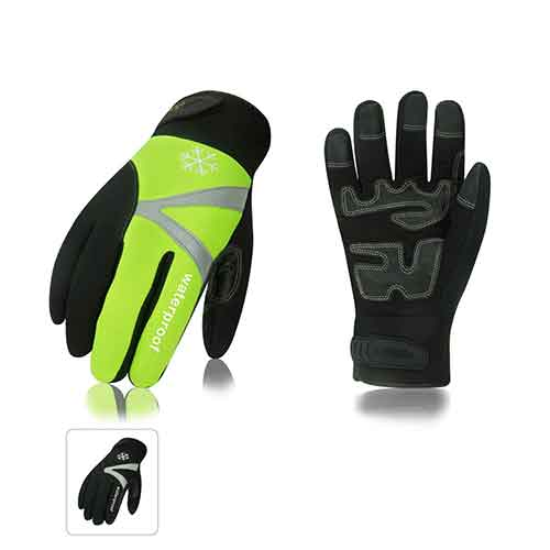 Best Work Gloves for Winter 8. Vgo 2Pairs -4℉ or above 3M Thinsulate C100 Lined High Dexterity Touchscreen Synthetic Leather Winter Warm Work Gloves