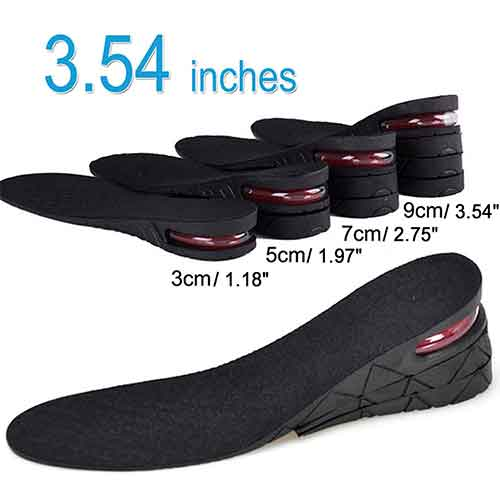 Best Height Increasing Insoles for Men 3. 4-Layer Unisex Height Hight Increase Shoe Insoles Lifts